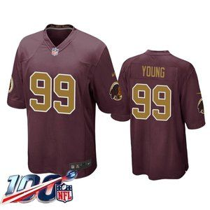 Washington Redskins Chase Young Red  Jersey